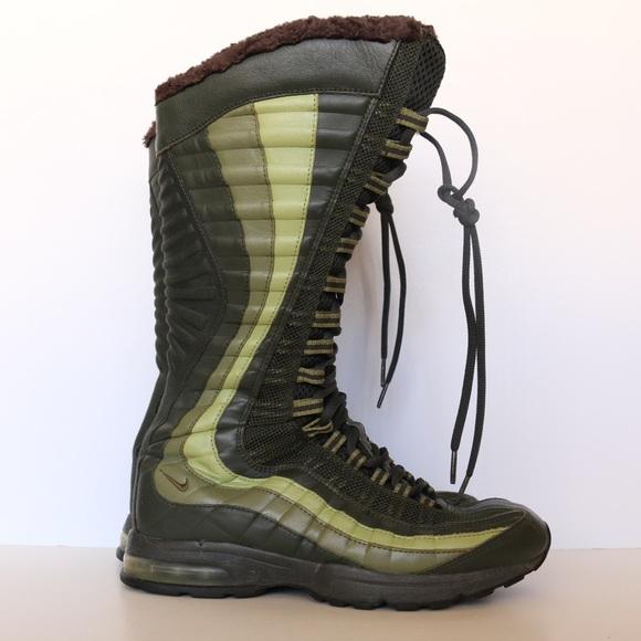 b334f4ca53ce Nike Air Max 95 Zen Venti casual zip up boot green.  M 5bc8c9dd03087cf29c08b246